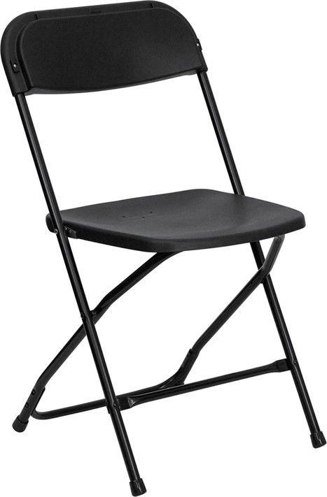 Black Folding Chair Image